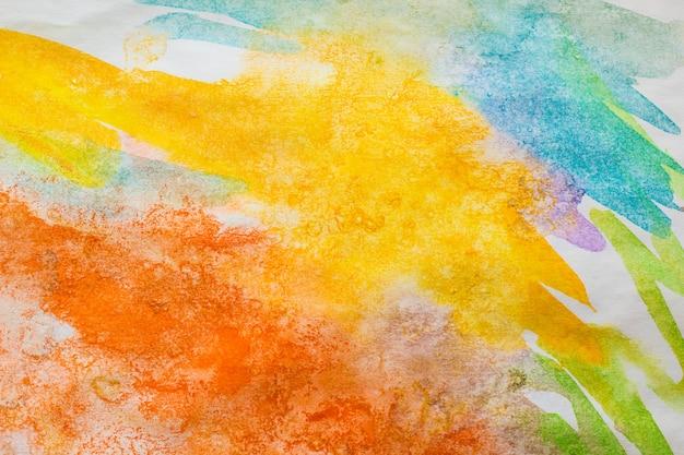 Samenvatting geschilderde kleurrijke waterverfachtergrond