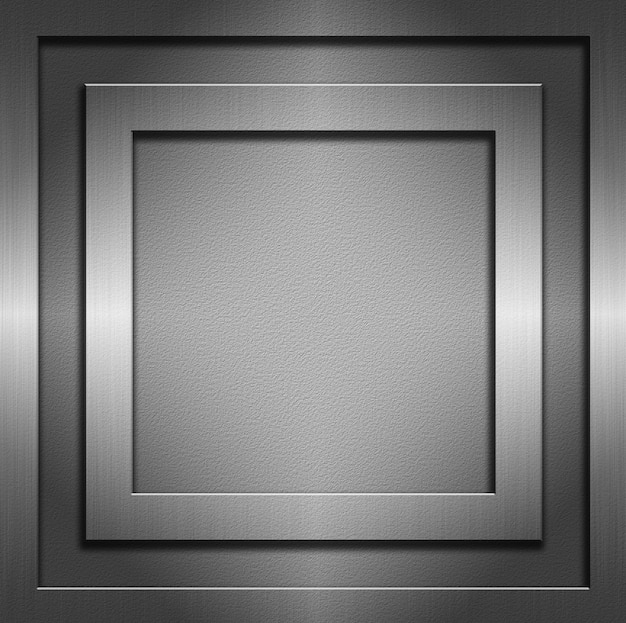 Samenvatting met metalen texturen en frames