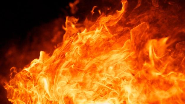 Samenvatting van de vlam van de brand