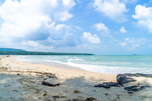 Samila strand. oriëntatiepunt van songkla in thailand.