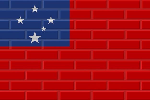 Samoa baksteen vlag illustratie