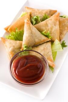 Samosa's met vlees en groenten