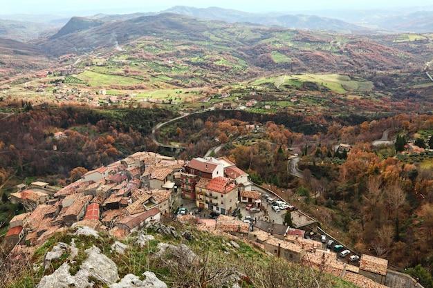 San donato di ninea uitzicht van bovenaf