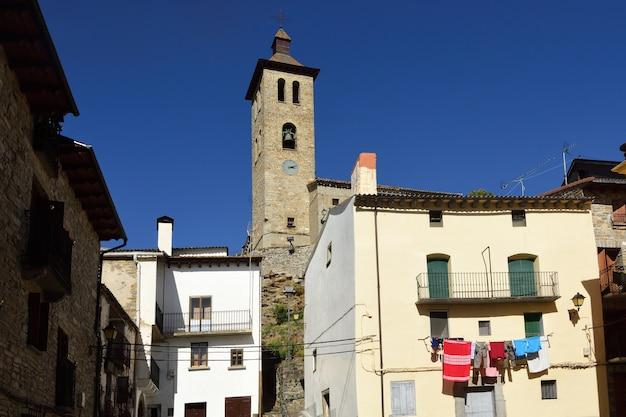 San pedro kerk van de provincie biescas huesca aragon spanje