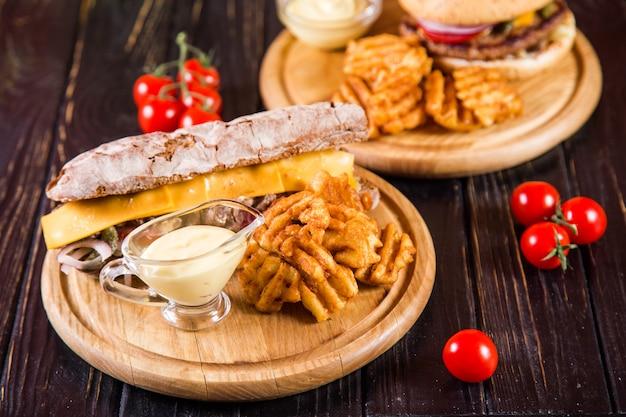 Sandwich met gebakken aardappelen