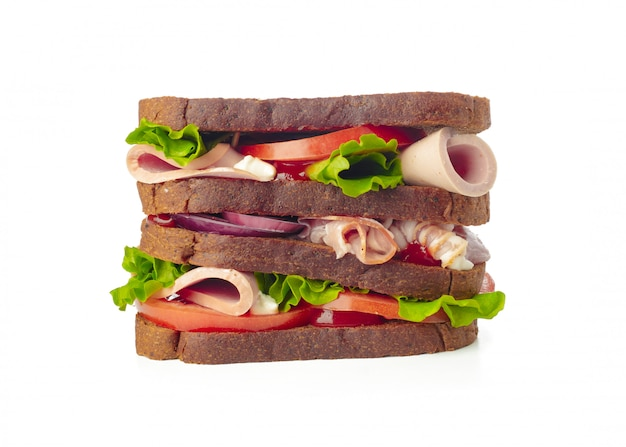 Sandwich op wit