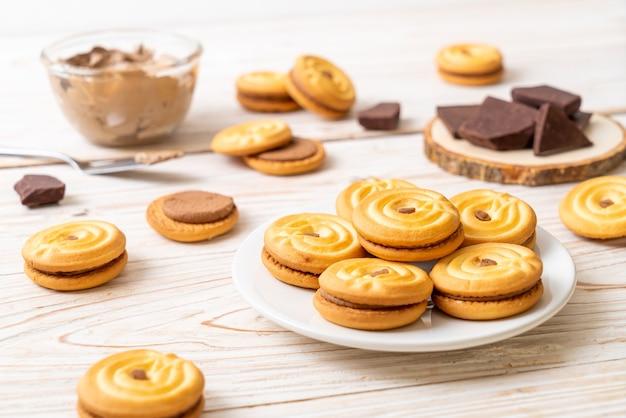 Sandwichkoekjes met chocoladeroom