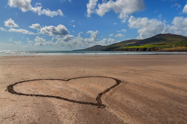 Sandy hart aan de kust