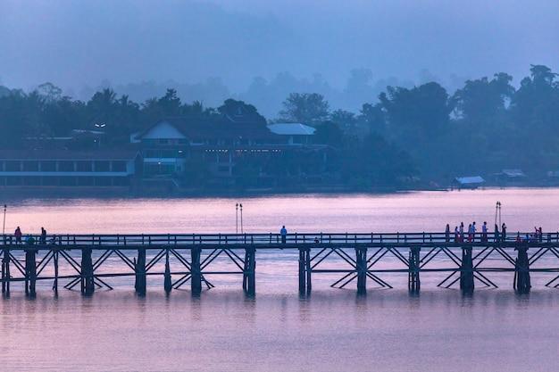 Sangkhla buri, kanchanaburi-provincie, thailand.