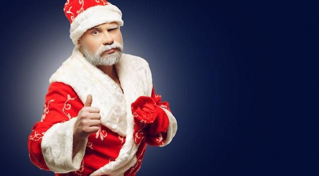 Santa claus toont ok-teken