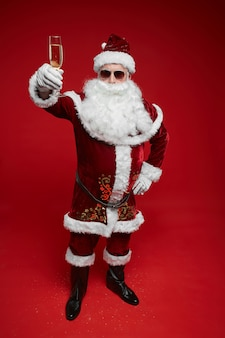 Santa claus viert kerstvakantie