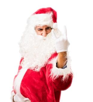 Santa hoorns maken met vingers
