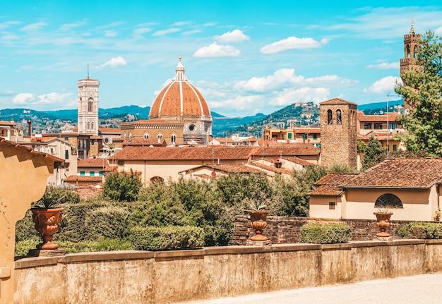 Santa maria del fiore. panorama. italië, florence.