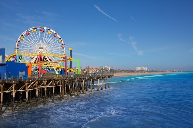 Santa moica-pijler ferris wheel in californië