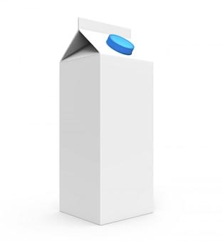 Sap, melk witte kartonnen doos met blauwe dop