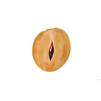 Sapodilla (manilkara zapota), geïsoleerd op een witte achtergrond