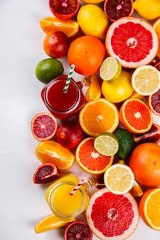 Sappen fris oranje. zomer verfrissend drankje.