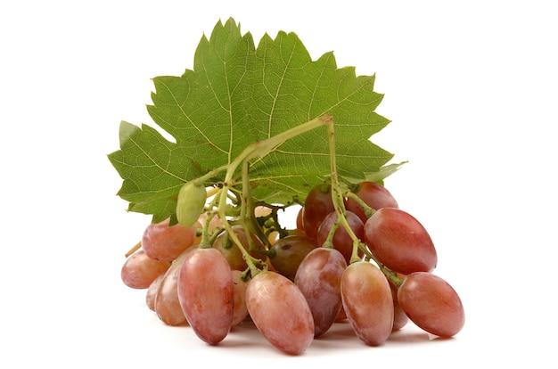 Sappige druiven op wit
