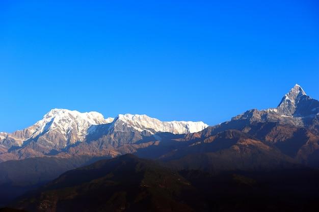 Sarangkot en himalaya in pokhara, nepal