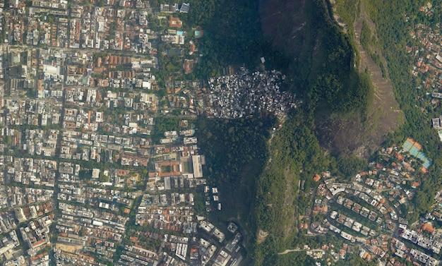 Satelliet bovenaanzicht textuur over brazilië