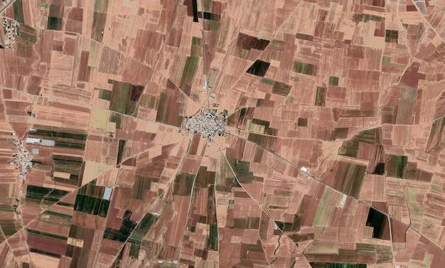 Satelliet bovenaanzicht textuur over mardin