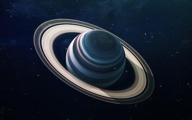 Saturnus - hoge resolutie prachtige kunst presenteert de planeet van het zonnestelsel