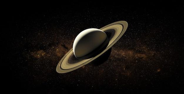 Saturnus in de ruimte