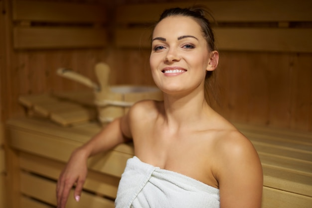 Sauna is mijn favoriete vrijetijdsbesteding