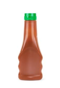 Sausschotel op een witte ondergrond, voor sauzen en chocolade topping