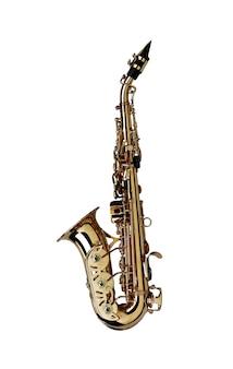 Saxophone geïsoleerd
