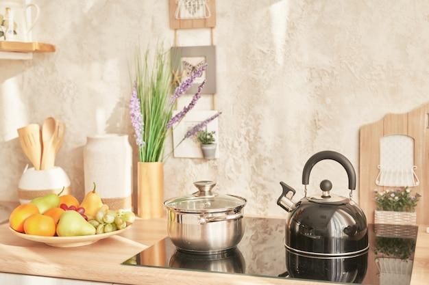 Scandinavische keuken in loftstijl