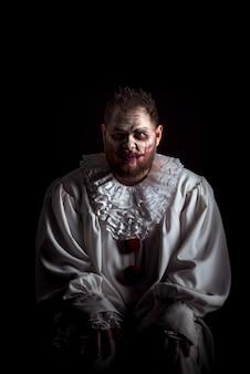 Scary evil clown