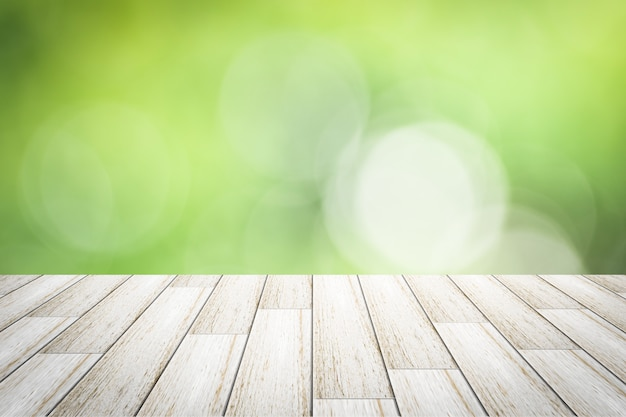 Scène houten achtergrond bokeh