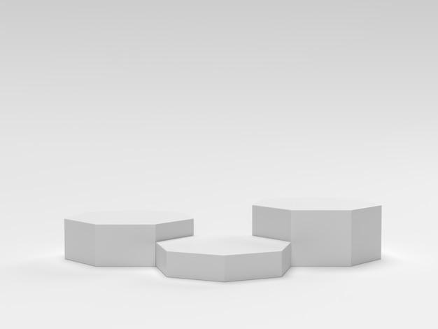 Scène minimale geometrische podium cosmetische achtergrond voor productpresentatie