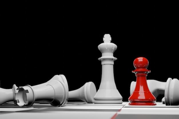 Schaakbordspel, zakelijk competitief concept