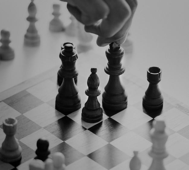 Schaakspel bedrijfsstrategieconcept