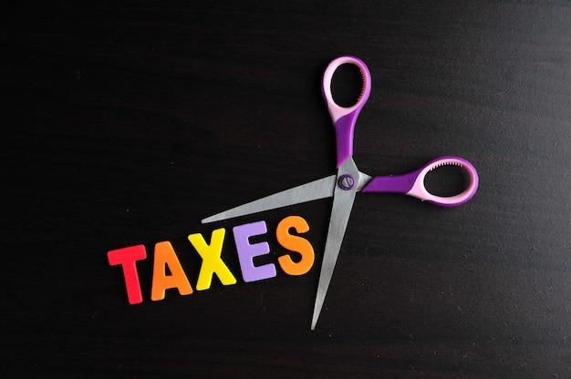 Schaar en het alfabet belastingen