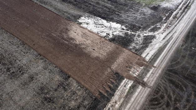 Schade aan het milieu als gevolg van menselijke agrarische activiteit. afschaven.