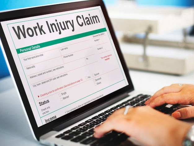Schadevergoedingsformulier voor arbeidsongevallen