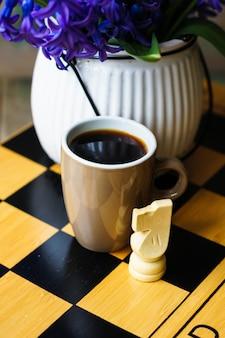 Schaken en koffie