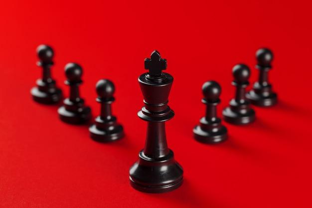 Schaken zakelijk succes, leiderschap concept