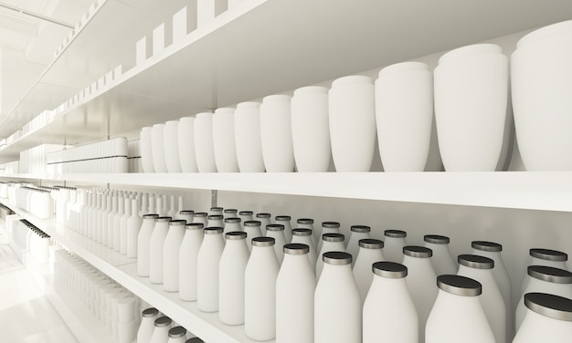 Schappen van supermarkten