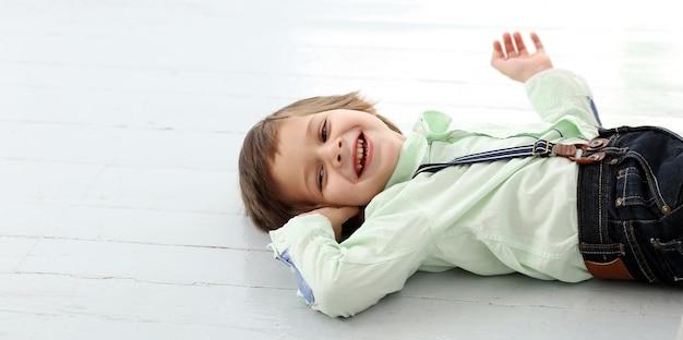 Schattig kind lachen