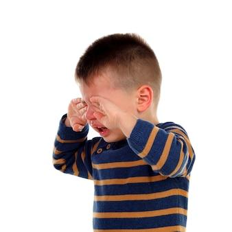 Schattige baby huilt