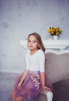 Schattige kleine ballerina