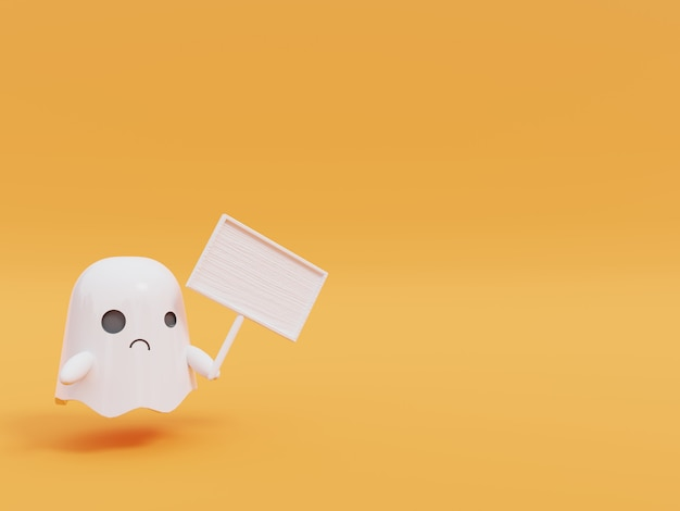 Schattige kleine vliegende geest in halloween.