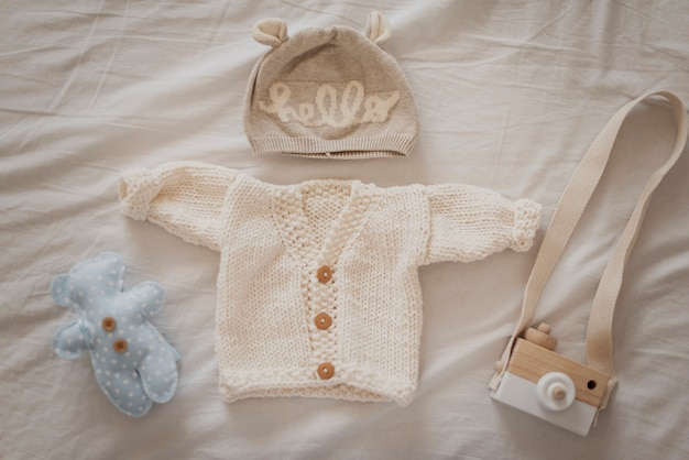 Schattige winterkleding voor kleine baby
