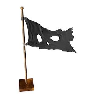 Schedel piraat vlag. 3d illustratie