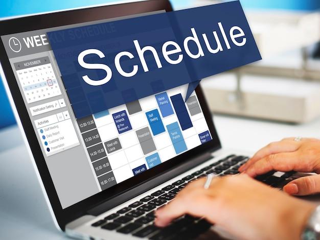 Schema organisatie planning lijst te doen concept