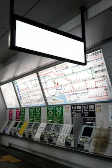 Scherm van het japanse metrosysteem voor passagiersinformatie